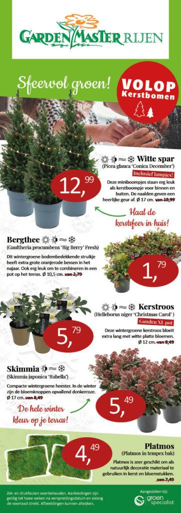 kerst aanbiedingen GardenMaster Rijen